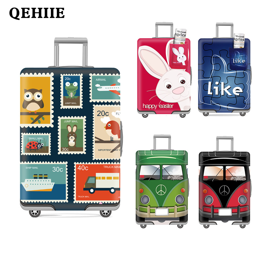 Elastic Luggage Cover Cartoon Waterproof Travel Case Dust Cover tourism Luggage cover Trolley case cover case Travel accessories