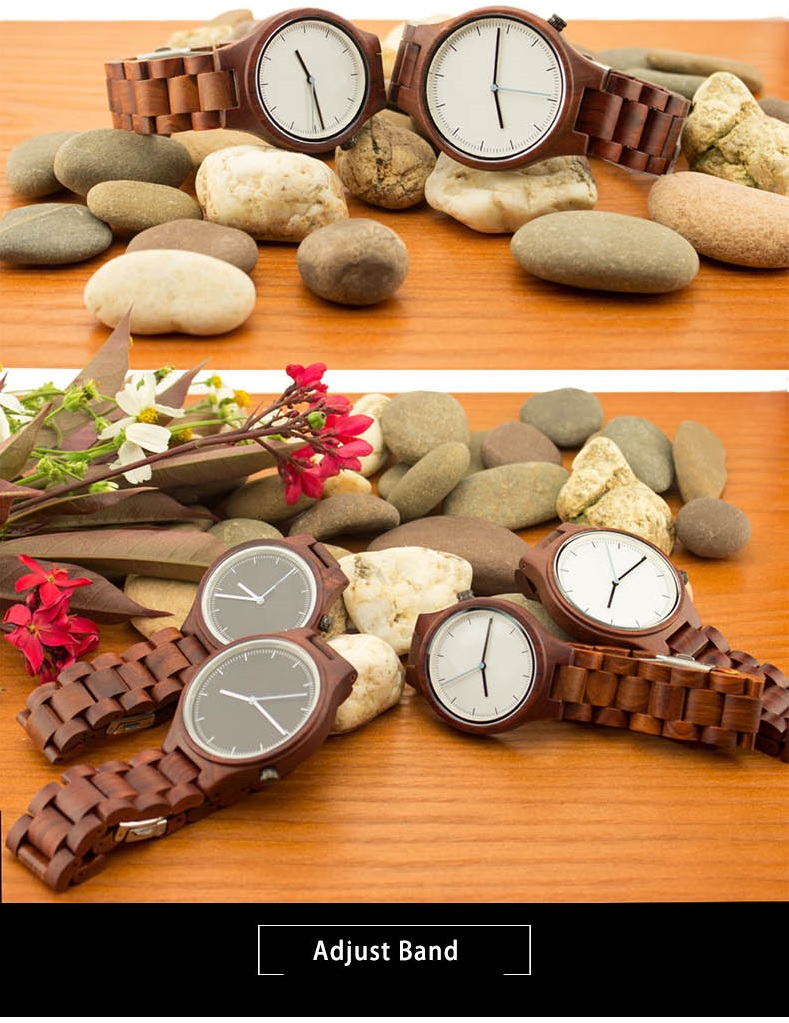 ALK VISION Top Brand Designer Men and Women Wood Watch Red sandal Wooden Quartz Watches fashion casual clock Relogio Masculino 8