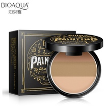 BIOAQUA Brand 3D Face 3 In 1 Highlighter Bronzer Powder Makeup Palette Smooth Matte Shading Contour Pressed Powder Cosmetics 10g(China)