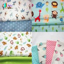 Monkey/lion/giraffe/ice cream/sheep/bear Cute Cartoon Animal Pattern Fabric for Baby Bedding,DIY Decoration Cotton Fabric S0649H(China)