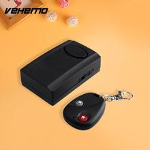 Vehemo OEM 120db Motorcycles Anti Theft Security Alarm System Scooter W/Remote Black