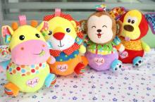 4 styles Cartoon Animal Roly-poly toy Baby Stuffed Plush Doll colorful tumbler Stuffed for child girls boys