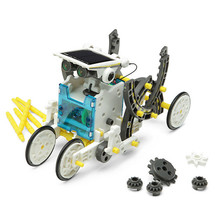 14 In 1 Solar Powered Robot Educational Robot Pattern Building Block Assembling DIY Car Boat Animal blocks For Kid boy gril Gift