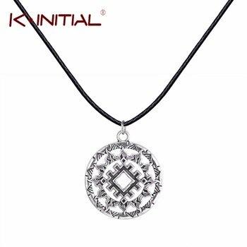 Kinitial 1Pcs Slavic Pendant Silver Slavic Pendant Necklace Jewelry  Slavic Amulet Slavic Symbol Necklaces Women Punk Bijoux