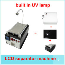 Multifunction Built-in Vacuum UV Lamp 7 inch LCD Touch Screen Separator Repair Machine With LED Light(China)