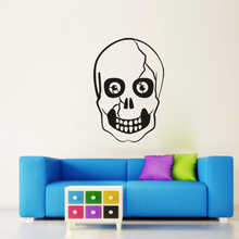 Home Halloween Decoration Vinyl Removable 3D Wall Stickers Halloween Black Skull Head Decor Decals for Walls Decal Wall Murals