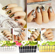 New Fashion 16pcs/set Nai Art Foil Finger DIY Sticker Gel Nail  Patch Manicure Decoration Wraps Nail Art Sticker 2017 Hot Sale