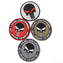 Punisher armband tactics  patch armband badges backpack embroidered personalized stickers military patches badges