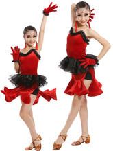 Velvet Girls Latin Dance Performance Service Children 's Clothing Latin Dance Dress Test Clothing Service Requirements(China)