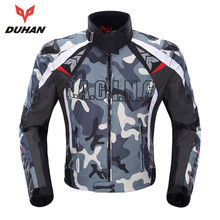 DUHAN Men's Oxford Cloth Motorcycle Jacket  Motocross Off-Road Racing Jacket Guards Clothing