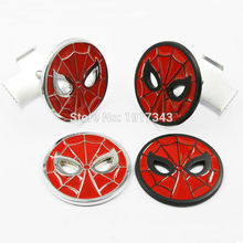 1 Piece Metal Spiderman Full Metal Car Body Stickers Badge Chrome Car Exterior Decals Grill Grille Emblem Nameplate Accessories