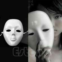 Free shipping Theatrical Mask Mardi Gras Masks Costume Face Costume Full Face Mask White Mask
