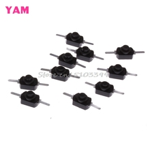10Pcs/Set 1A 30V DC 250V Black Latching On Off Mini Torch Push Button Switch -Y103 #G205M# Best Quality