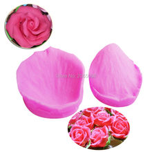 M175 Hot Selling FDA Petal Shaped Silicone Mold Cake Decoration Fondant Cake 3D Food Grade Silicone Mould
