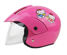 factory outlet kids helmets motorcycle half face electric bicycle child baby cartoon four seasons sale safety cascos para kitty(China)