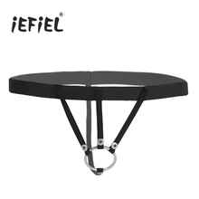 Buy iEFiEL Mens Lingerie O-ring Crotchless Open Butt G-string Bikini Underwear Underpants Men's Hollow String Homme Panties