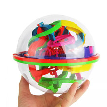 US 100 Levels Intellect Ball 3D Labyrinth Magic Intellect Ball Puzzle Game Brain Teaser Balance Maze Perplexus Educational Toys