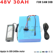 EBike Battery 48V 30Ah Lithium Battery Built-in 50A BMS W/2400W 48V Electric Bikes Motor W/2A Charger Quick Freeshipping