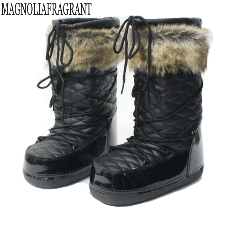 2018 new  fashion waterproof snow boots Keep warm womens boots flat winter boots platform shoes women Safety space boots k635<br>