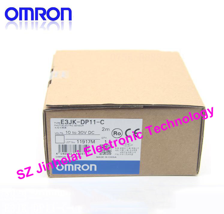 New and original OMRON  PHOTOELECTRIC SWITCH SENSOR  E3JK-DP11-C  2M 10-30VDC<br>