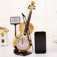 Creative Alarm Clock Violin Home Furnishing Practical Send His Girlfriend A Small Gift Girlfriends Novel Holiday Gifts