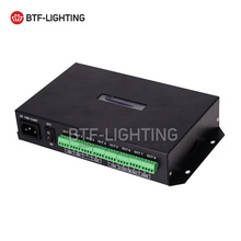 T-500K controller RGB Full color led pixel module controller 8ports support up to 300,000 pixels WS2811 WS2812B...(China)