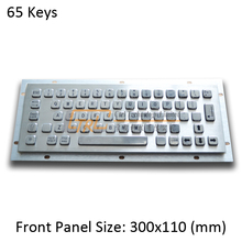 Standard Metal Keyboard, 65 keys USB/PS2 kiosk keyboard, metallic industrial keyboard, standard kiosk keyboard
