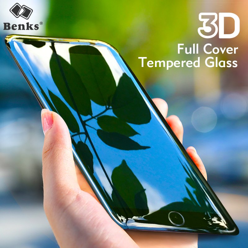 Benks 0.23 Anti Blue Light Glass iPhone 7 6s Plus Screen Protector Tempered Glass 3D Full Cover Soft Edge iPhone7 Film
