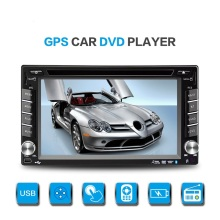 2Din 6.1inch Touch Screen Car Radio Doble Din Universal Auto Video Audio Player With GPS Navi Bluetooth Wince 6.0 OS USB