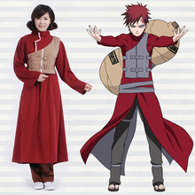Naruto Gaara Shippuden Cosplay Costume 1st & 2nd Generation full set Unisex costumes (Robe + Pants + Waistcoat + Belts)(China)