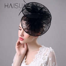 haisum Fascinator Hat Flower Hair feather Headband Headwear Fashion Dress Derby Church Wedding Evening Party hat HN45