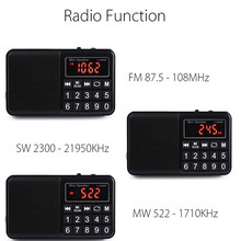 FM/MW/SW Radio Stereo Speaker Multifunctional TF Card USB Aux PC Mobile Phone LCD Screen Portable MP3 Music Player Rechargeable(China)