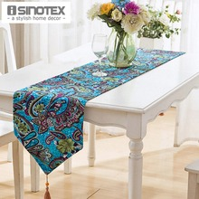 1PCS/lot Linen&Cotton Table Runner Flag Rustic Tablecloth Table Cover Decor Handmade Home Party Dining Room Floral(China)