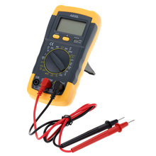 Backlight Black yellow A830L LCD Digital Multimeter DC AC Voltage Diode Freguency Multitester