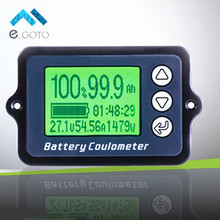80V TK15 Coulomb Meter Battery Capacity Indicator Coulometer Power Level Display Lithium Iron Phosphate Tester Wire Sensor 50A