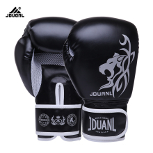 10OZ/6OZ Free Shipping High Quality PU Boxing Gloves Fighting Sports Wearable Breathable For Training Free Size(China)