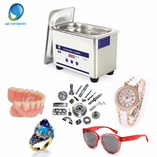 Skymen Digital Ultrasonic Jewelry Cleaner Bath Ultrasound Washing Glassess Brushes Dental Watches CD Touch Control Timer 800ml(China)