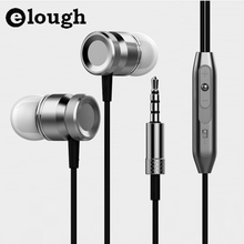 Elough Universal In-ear Earphone 3D Bass Headset earbud With HD Microphone and Headphone For Samsung ear Phone Computer Earpiece