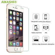 9H tempered glass For iphone 4s 5 5s 5c SE 6 6s plus 7 plus screen protector protective guard film front case cover +clean kits(China)