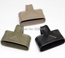 5PCS 7.62 NATO rapid cage Mag rubber Loops Assist black green sand color can be choosed Free shipping(China)