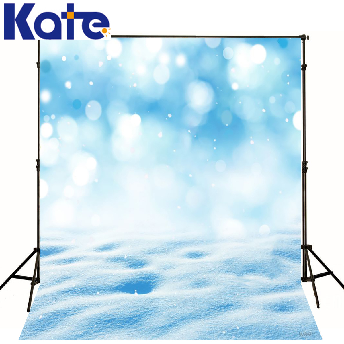 Kate Backdrop Photo Dream Spot Blue Style Scenery Backdrops Photography Snow Is Land Background For Photo Shoot<br>