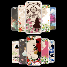 Cover For Apple iPhone 4/4S/5/5S/6/6S/6Plus/6S Plus SE 5C Case Cases Phone Shell Soft TPU Pink Princess Flowers Clusters Top!!