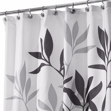 Fresh Bamboo Leaf Design Shower Curtain Bathroom Waterproof Mildewproof Polyester FabricWaterproof Cortina Ducha Home Decor