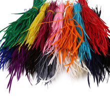 Cheap for Sale 50pcs Colorful American Indian Headdress Hair Extend Goose Feather Wedding Decorations Elegant Feathers