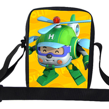 Cute Cartoon Messenger Bag For Children Robocar Poli Shoulder Bag For Kids Boys School Shoulder Messenger Bag For Girls