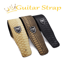 Excellent Leather Guitar Strap For Acoustic Electric Folk Guitar and Bass solid and durable acoustic guitar strap for guitar(China)