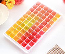 Plastic Square Shape Ice Cream Cube Freeze Mold Chocolate Maker Tray DIY Party Event Home Supplies Ice Cube Tray Maker Mold For(China)