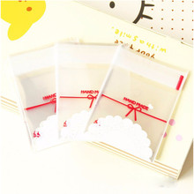 Cheap Price Wholesale 100pcs Food Storage Bag Clear Cake Gift OPP Plastic Bag Self Adhesive Seal Package Bag(China)