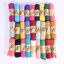 2017 Candy Scarf Fashion Hijab Cotton Silk Scarves Soild Color Shawl Wrap for Women Long Scarf luxury brand Femme 65*180CM