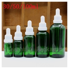 High-Grade Essential oil Dropper Bottle, Green Glass Essence oil,Female Personal Care,Beauty Skin Care Cosmetic Packaging Bottle